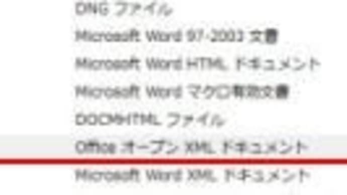 Wordファイルが、XMLドキュメントで表示される?