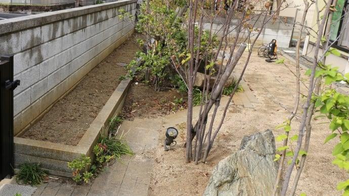 ハルガーデン グレードアップ② 御影石を磨く