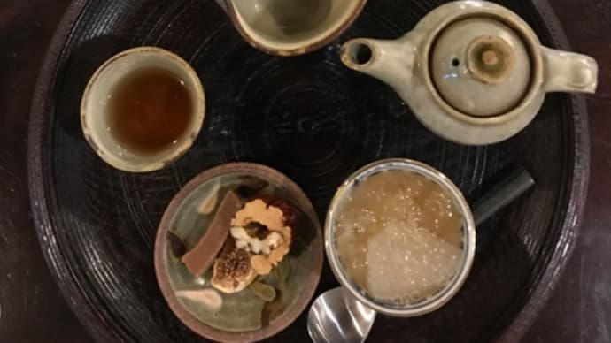 武夷岩茶「白牡丹」と豆かんで