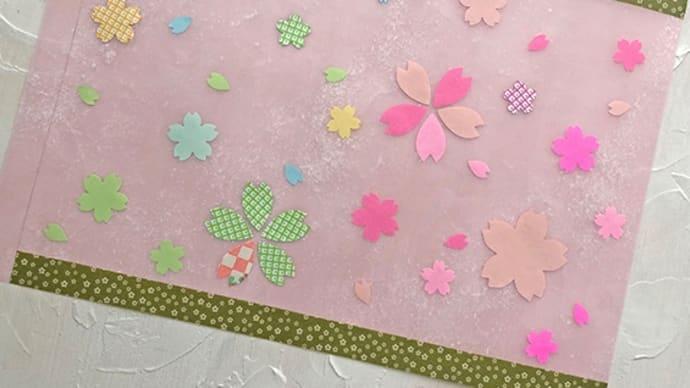 今週末は桜の行灯を作るよ!