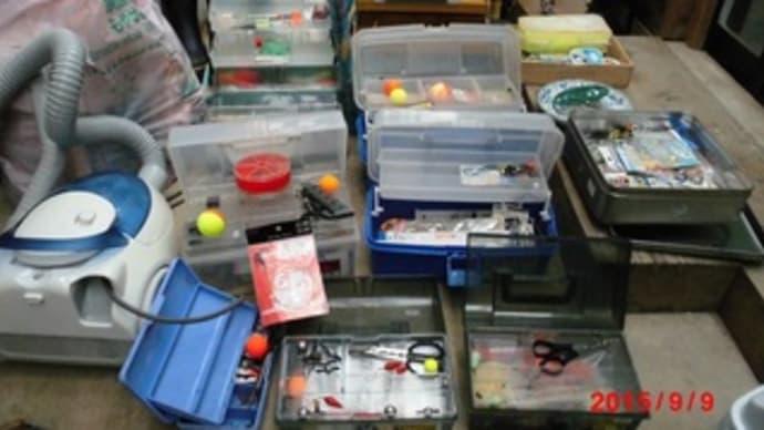 釣り具の整理。