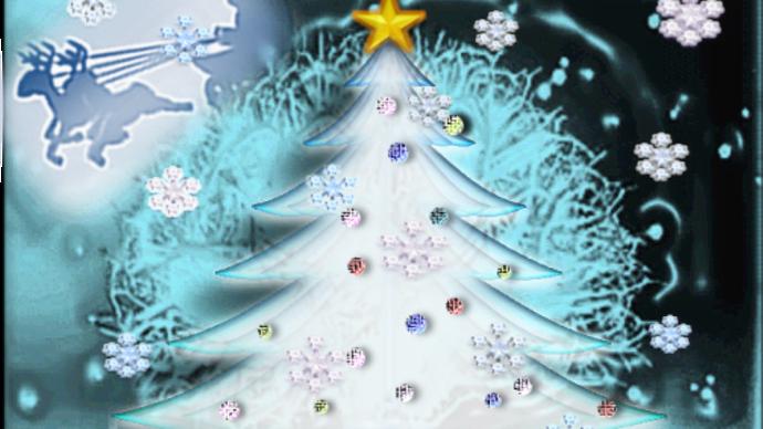 シンプルなクリスマスカード