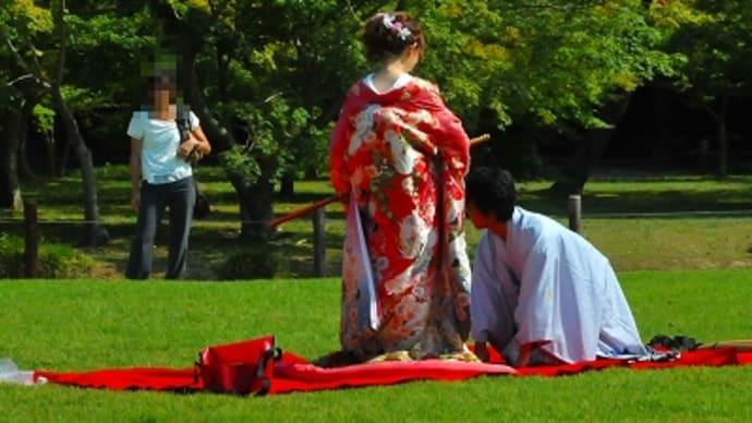 最近の結婚式の写真撮り?