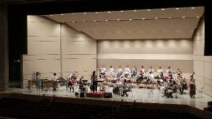 吹奏楽コンクール集中練習 (男鹿市民文化会館大ホール)