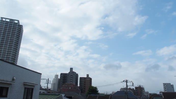今朝(8月15日)の東京のお天気:曇り、8月の作品:野辺の二人