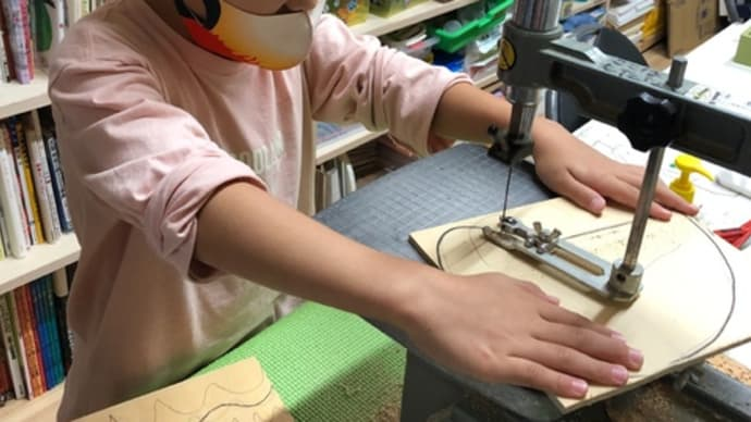 木工で時計
