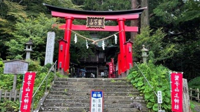 がちゃこさんからご朱印送って頂きました。鷲子山上神社(とりのこさんしょうじんじゃ)