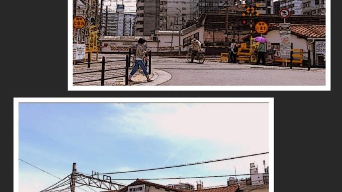 北宮原第2踏切とJR東淀川駅