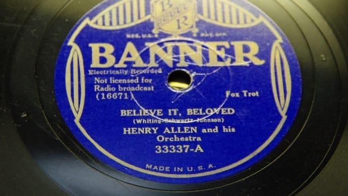 Banner 33337HENRY ALLEN & HIS ORCHESTRA