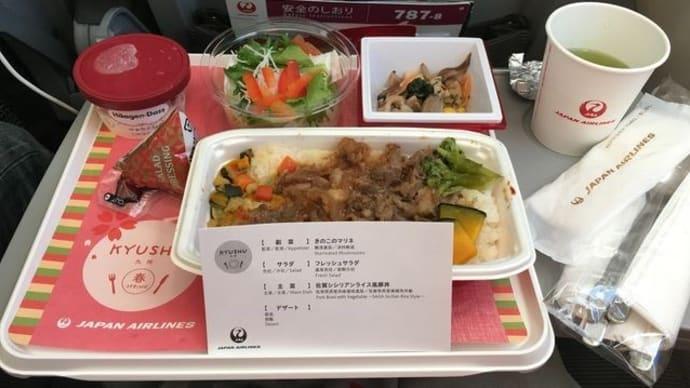 JAL関空発台北行き*エコノミークラス機内食
