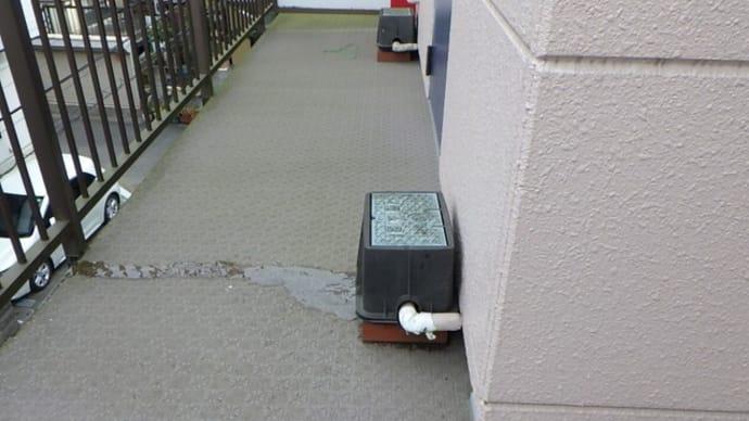 凍結で水道メーターからの水漏れ・・・四街道市