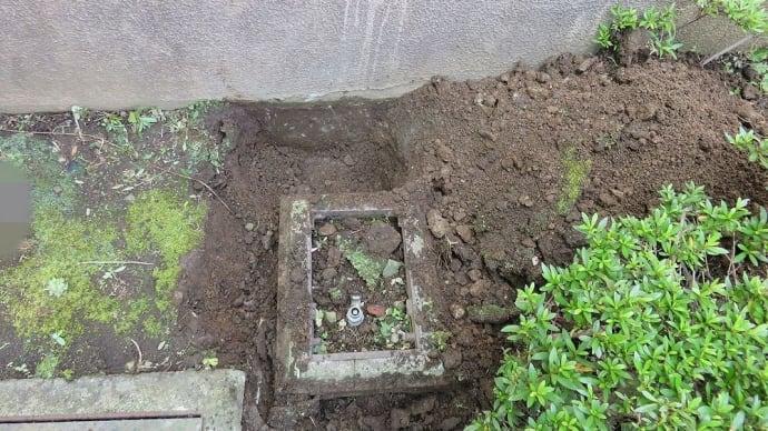 千葉県:船橋市某所にて、既存散水栓から根柱仕様への変更工事