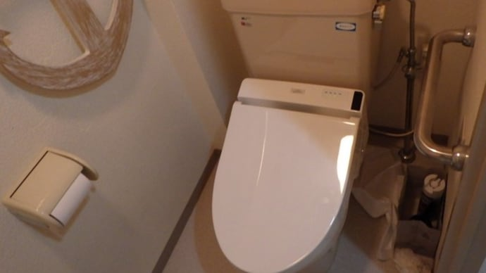 トイレの床が濡れている
