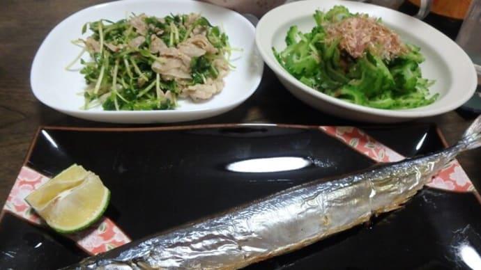 緑っぽい食事