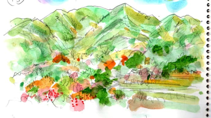 徳島の世界農業遺産をスケッチ