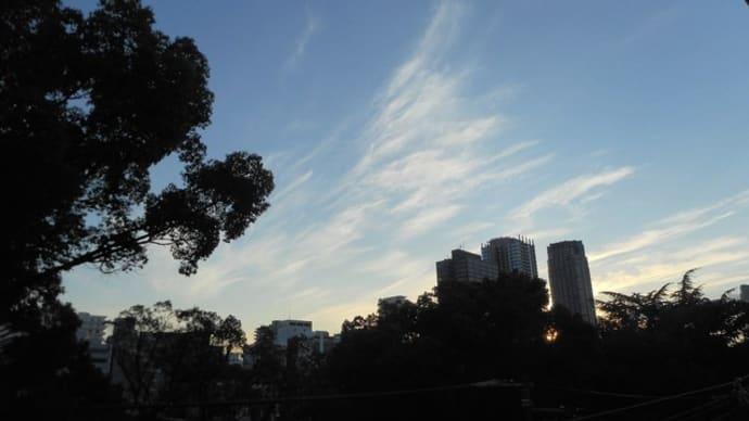 刻々変わる雲の景色