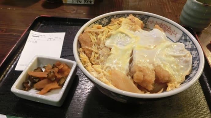 平成29年3月27日の食事(横浜で530円のカツ丼)