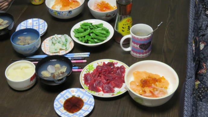 5月5日の子供の日の晩御飯は海鮮丼