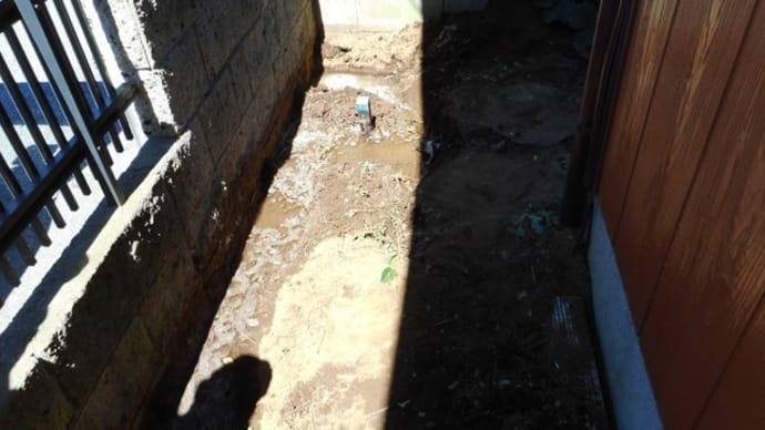 ポリエチレン管の水漏れ修理・・・千葉市