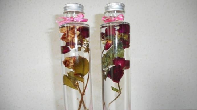 バラの香りが漂うハーバリウム♪新商品