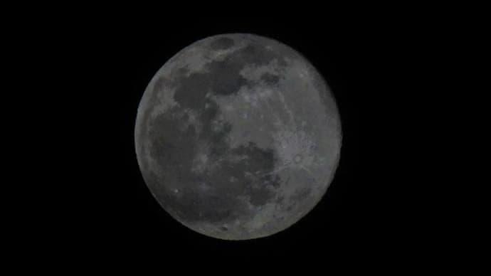 今夜は スノームーン(満月)