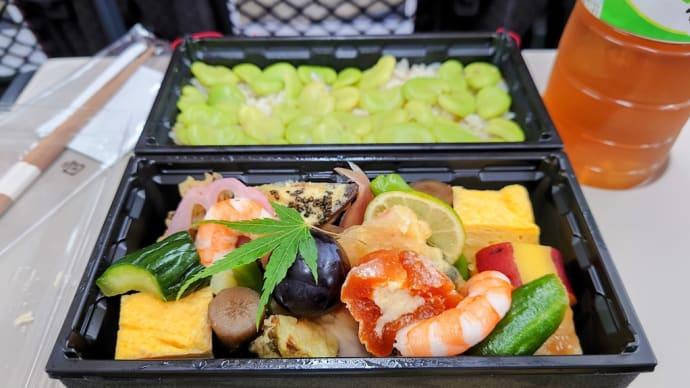 2021・7・27 昼飯は、犀北館Dellca鐵扇の隔月替わりの二段和弁当
