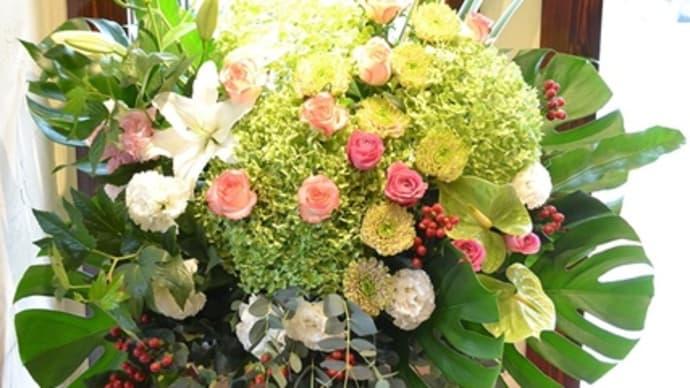 めいのはまMarcheへスタンド花