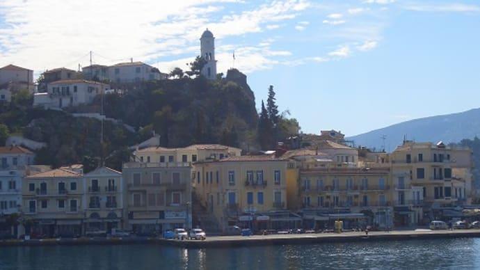 エーゲ海の時計塔の立つ島ポロス