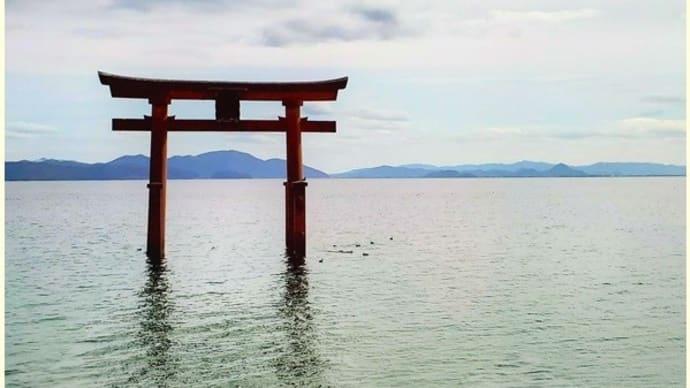 滋賀県 白髭神社 鳥居