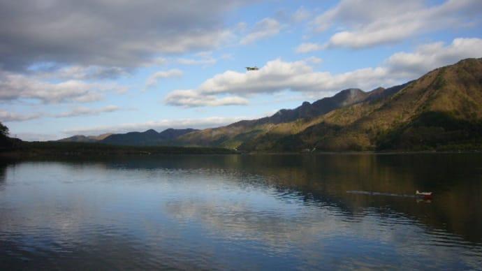 西湖でラジコン水上機フライト