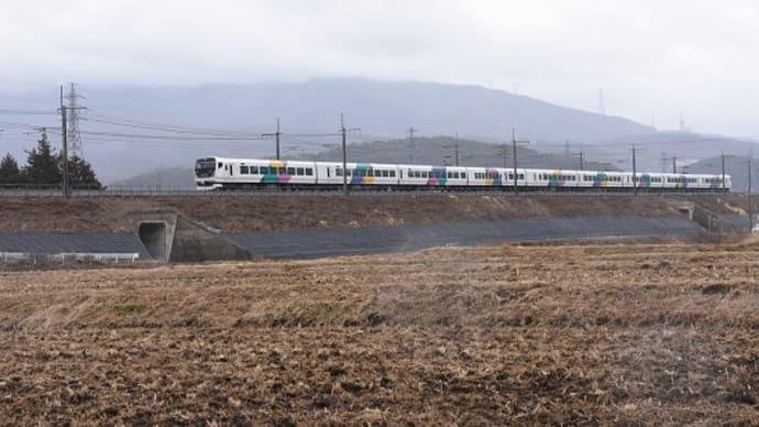 本日の撮影 E257系 団臨「旅をチカラに長野号」より