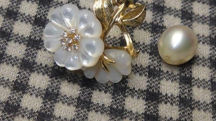 パール&白蝶貝のリング修理