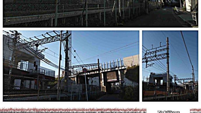 JRおおさか東線(城東貨物線)をまたぐ為の工事区間