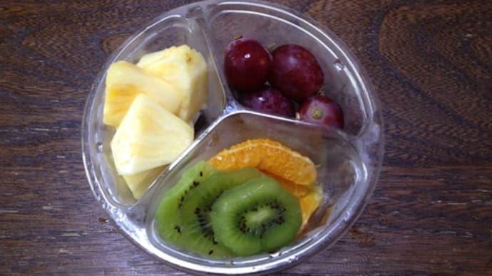 ☆カットフルーツの朝食