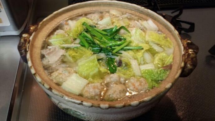2/13の夕飯(鶏団子鍋)