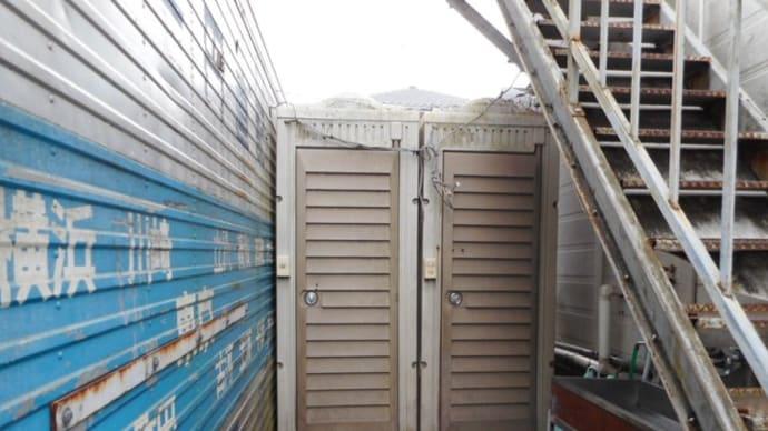 仮設トイレの取り換え工事・・・千葉市