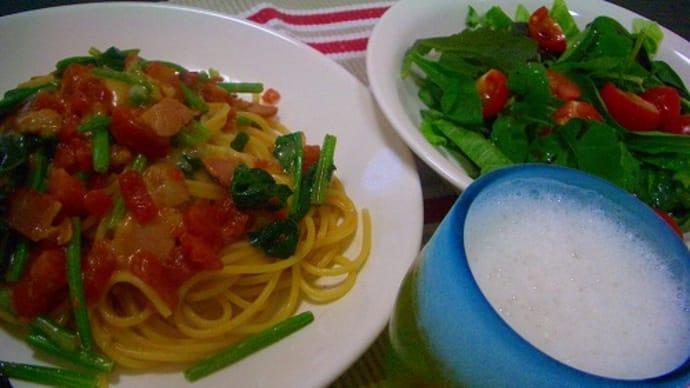 夕食はイタリアン