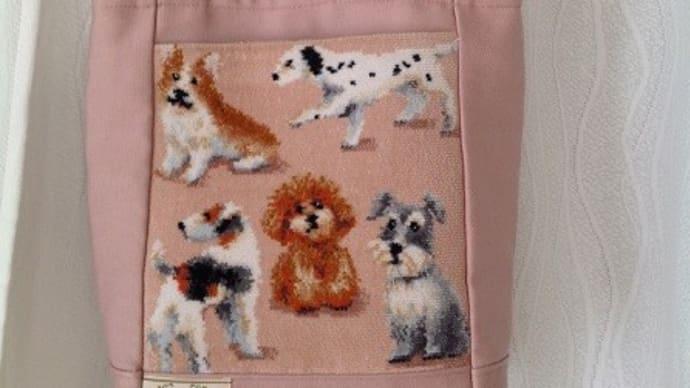 犬の絵柄が可愛いフエイラーバッグをリメイクしました。