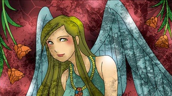 天使イラスト。女性。エンジェル。Illustrator、Photoshop。