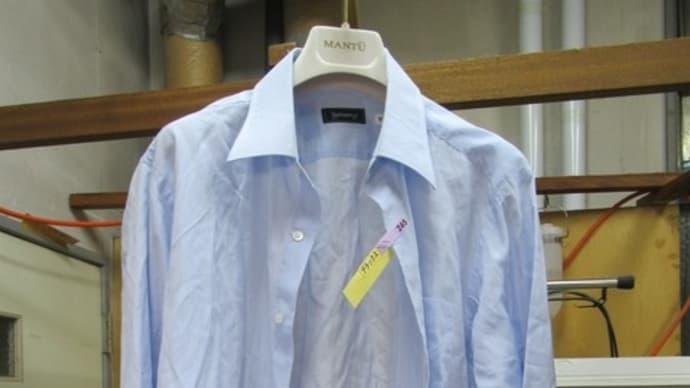 Yシャツ(バーバリー製)洗濯後血液しみ しみ抜き 綿素材