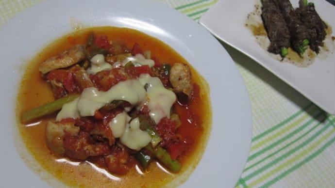 チキンのトマト煮込み。