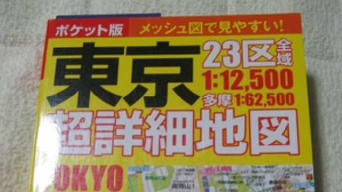 東京の地図を買ったよ