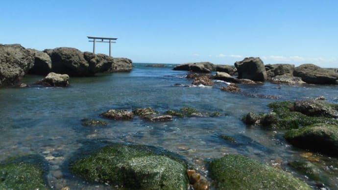 大洗に日帰り旅行1-神磯の鳥居、大洗磯前神社、メヒコ
