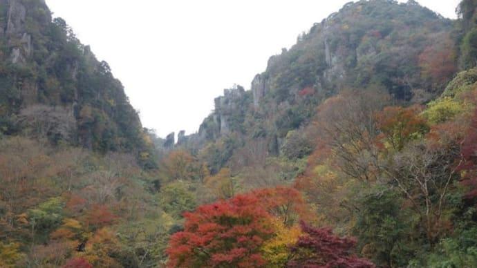 2018年11月17日 大分県耶馬溪の紅葉 一目八景  溪石園(けいせきえん)