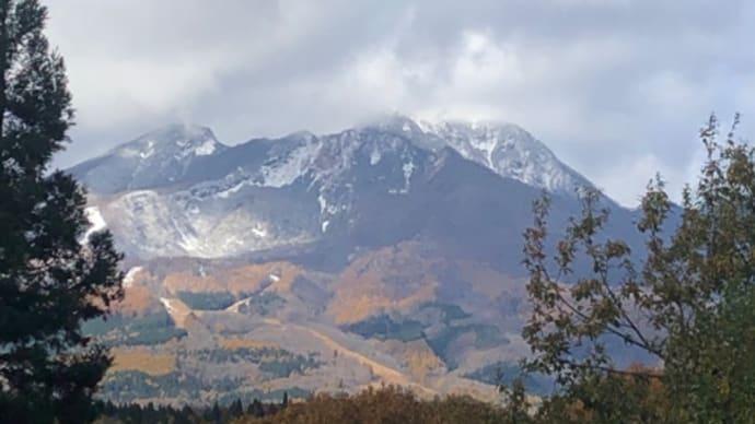 山頂は雪降ったよ!