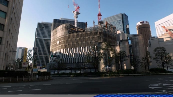 阪神百貨店の建築工事  2016.11.2