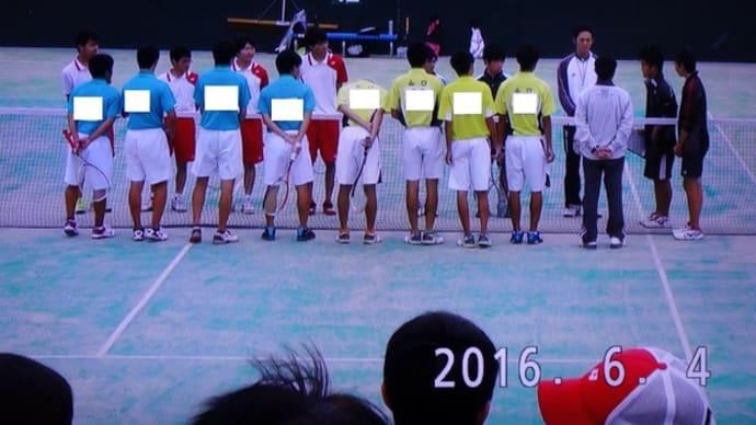 山口県高等学校総合体育大会(ソフトテニス競技)団体戦  1戦目(2回戦)
