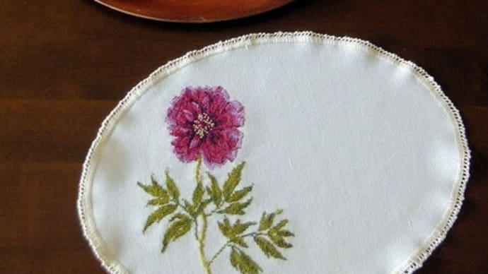 刺繍 - replay pivoine :完成