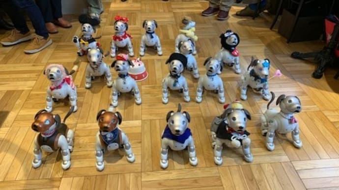 久しぶりのペンギンカフェには1人で参加、18匹のaiboとアイボレンジャー!