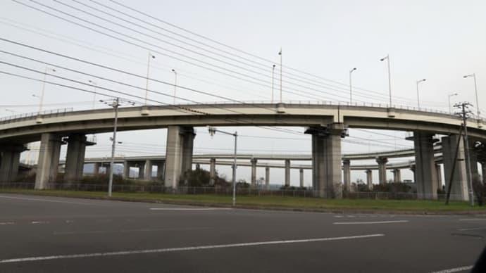 室蘭市 白鳥大橋(ループ橋)